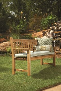 100% American-made teak garden benches for sale!