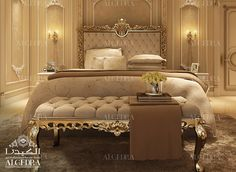 Find new luxury bedroom interior designs ideas for your home. Contact our team of experts to consult your bedroom interior design project today! Interior Design Dubai, Luxury Bedroom Design, Luxury Home Decor, Interior Design Companies, Luxury Homes, Royal Bedroom, Home Bedroom, Bedroom Decor, Modern Bedroom