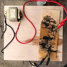 Woodburning With Electricity If you have ever tried woodburning, you know that it can be time consuming and rather uneventful. This instructable aims to change that. Let's create beautifully. Wood Burning Crafts, Wood Burning Patterns, Wood Burning Art, Wood Crafts, Wood Resin Table, Epoxy Resin Wood, Woodworking Techniques, Woodworking Projects Diy, Woodworking Tools
