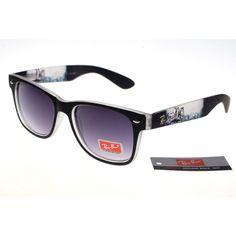 5f695d5b079 Ran-Ban Rare Print 25081 Black Pattern Frame Gray Lens RB1267 Wholesale  Sunglasses