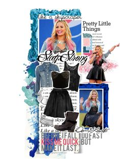 """""""Go on and try to tear me down, I will be rising from the ground, like a skyscraper."""" ♪♫"""" by kariika ❤ liked on Polyvore"""