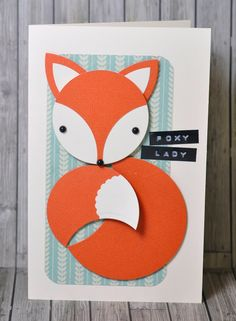 Un renard avec que des dies cercles de Sizzix! A fox with just Sizzix circle dies!