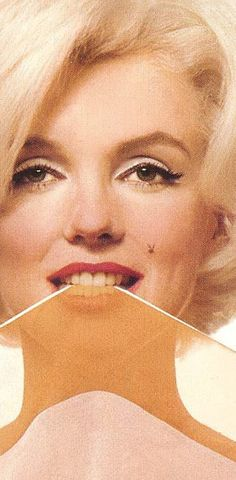 "Marilyn, The Last Sitting - Orange Striped Scarf, photographer: Bert Stern, June 1962. This was the Playboy Cover, they always have a ""bunny"" hidden on every woman on the cover and this time Marilyn's mole was the spot :)"