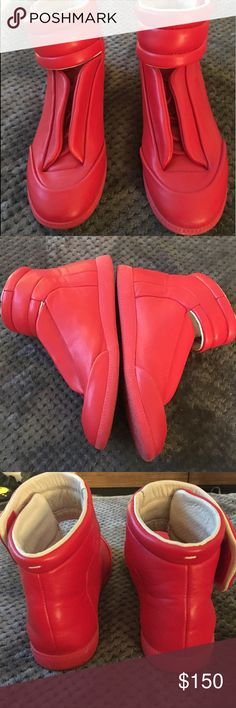 maison martin margiela red size 11 Great condition size 11 Maison Martin Margiela Shoes Sneakers