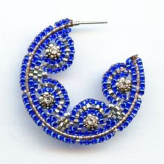 Miguel Ases Royal Blue Hoops Jewelry
