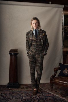 Polo Ralph Lauren Spring 2019 Menswear Fashion Show Collection: See the complete Polo Ralph Lauren Spring 2019 Menswear collection. Look 20 Suit Fashion, New Fashion, Tailored Fashion, Latex Fashion, Gothic Fashion, Tweed, Preppy Boys, Classic Man, Man Style