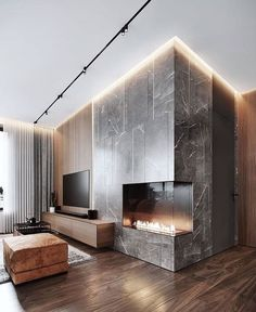 115 square meters apartment in historical district of Moscow. Modern & minimalis… 115 square meters apartment in historical district of Moscow. Modern & minimalistic dining area in our new project Viz ——————— Source Interior Design Examples, Best Interior Design, Interior Design Inspiration, Decoration Inspiration, Design Ideas, Loft Interior, Studio Interior, Luxury Interior, Home Fireplace