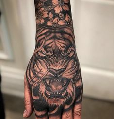Tiger hand piece by CJ. Done at Chronic Ink Tattoo - Toronto, Canada