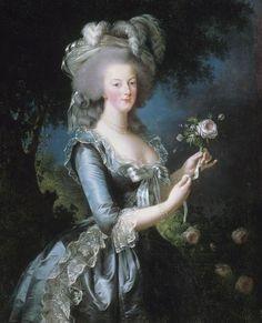 Portrait of the queen Marie-Antoinette « à la Rose », by Elisabeth Louise Vigée-Le Brun, XVIIIe siècle #France #Versailles