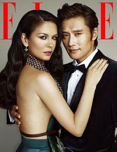 Lee Byung-hun & Catherine Zeta-Jones // Elle Korea // August 2013