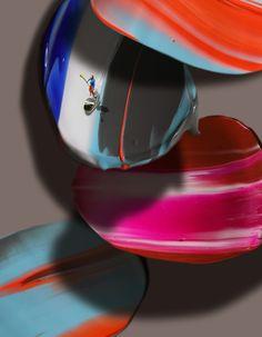 Golsa Golchini - Return on Art< Abstract Landscape, Abstract Art, Mixed Media Canvas, Islands, Vibrant Colors, Artwork, Artist, Work Of Art, Vivid Colors