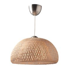 BÖJA Pendant lamp IKEA Handmade shade; each shade is unique. Gives a soft glowing light, that gives your home a warm and welcoming atmosphere.