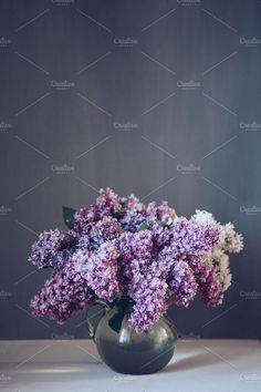 Lilac bouquet by OlgaPilnik on @creativemarket