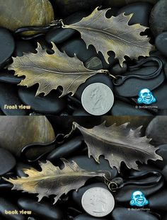 Patina brass oak leaf hanging design