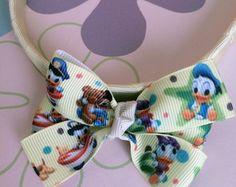 Tiara Creme Laço Disney Baby