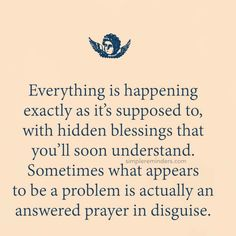 Everything is happening exactly as it' supposed to ...