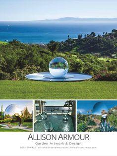 Allison Armour award-winning garden artist - visit allisonarmour.com today! Artwork Design, Water Features, Terrace, Fountain, Lawn, Armour, Outdoor Decor, Garden, Artist