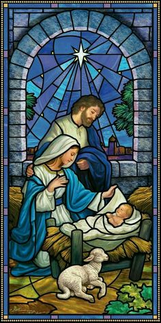 """The Nativity"""" Stained Glass Window Christmas Scenes, Christmas Nativity, Christmas Pictures, Merry Christmas, Religious Pictures, Jesus Pictures, Stained Glass Church, Stained Glass Art, Catholic Art"""