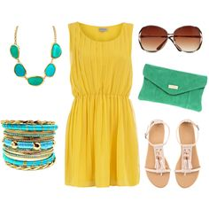 Yellow and Turquoise Summer! So cute!