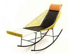 Resultado de imagen para sillas tejidas en hilo plastico