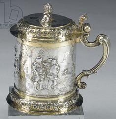 Tankard, Danzig, c.1680 (parcel gilt silver)