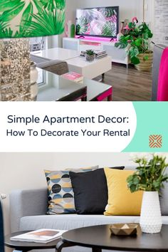 Decorating an apartment can be quite a design challenge. The good news is that we're here to offer you some affordable apartment decor ideas to give your rental a fresh new look that fits your tastes without much effort. Home Decor Trends, Home Decor Styles, Simple Apartment Decor, Diy Projects Cans, Outdoor Sofa, Outdoor Decor, Beautiful Interior Design, Simple House, Unique Home Decor