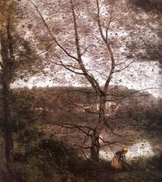 Ville d'Avray, 1870 by Camille Corot. Realism. landscape