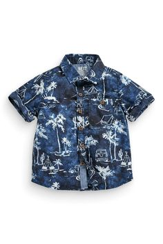 Buy Navy Palm Tree Scene Shirt (3mths-6yrs) online today at Next: United States of America