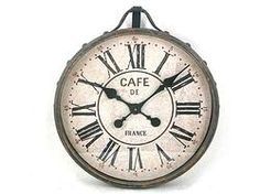 Distressed Metal Clock - $149.99