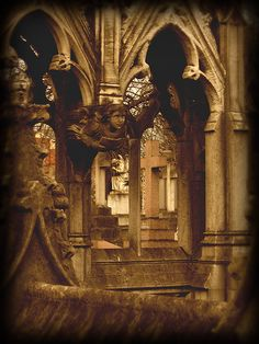 Victorian Gothic by seriykotik1970 (flickr) - taken at St Mary's Roman Catholic Cemetery, Kensal Green London.