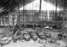 THE BREWING OF BEER, OF MILLET, (ELEUSINE SP.). Locale: OKONDO'S VILLAGE, CONGO BELGE