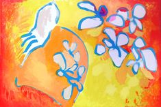 Painting by Lucy Somers, for more visit www.lucysomers.com Poinsettia, Paintings, Art, Art Background, Paint, Painting Art, Kunst, Performing Arts, Painting