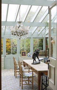 If one looks up the interpretation of a new conservatory, it certainly will inform you that it must be a greenhouse. Outdoor Rooms, Outdoor Living, Outdoor Decor, Casa Patio, Glass Room, Ideas Hogar, Roof Architecture, Glass House, Cabana