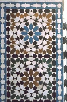 Pattern in Islamic Art - Tomb of Moulay Ishmael