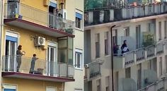 Italy Lockdown - While under lockdown, Italians found a way to still be cheerful amid the threat in their country. Leadership Examples, Woman Singing, Twitter Video, Opera, Instruments, Italy, Mansions, Country, House Styles