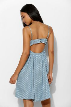 Coincidence & Chance Chambray Star Open-Back Tank Dress #urbanoutfitters