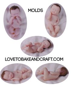 Baby mold baby doll mold Silicone baby mold How to make a fondant baby how to make a gumpaste baby Fondant baby tutorial Ooak baby Oak doll Fondant Polymer Clay Fairy, Polymer Clay Figures, Polymer Clay Dolls, Baby Cupcake, Fondant Baby, Baby Mold, Baby Cake Topper, Biscuit, Clay Fairies
