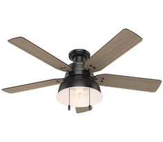 Hunter 59311 Mill Valley 52'' Outdoor Ceiling Fan with LED Light, Matte Silver