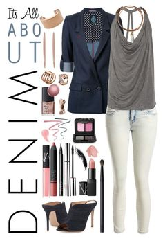 """Its All about Denim"" by micheladavite on Polyvore featuring Guild Prime, Sans Souci, Haute Hippie, Gianvito Rossi, Clarins, NARS Cosmetics, Michael Kors, Maison Margiela, Warehouse and Cédric Charlier"