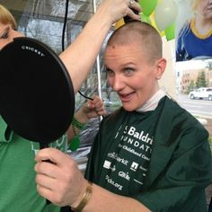 Help conquer Childhood Cancer! Donate to St. Baldricks! Awesome job Alissa Holmbeck!