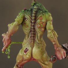 Sproket's Small World: Step-by-step: Painting a Nurgle Plaguebearer – part 2