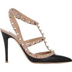d460f279e19c5 Valentino Rockstud Slingback Pumps ( 995) ❤ liked on Polyvore featuring  shoes