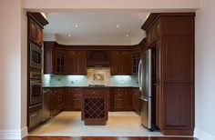 The Perfectly Kitchens Featuring Dark Cherry Cabinet