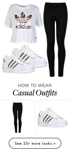 """""""Adidas: Casual Wear"""" by emmyylynnxo on Polyvore featuring adidas, Wolford, gold, blackandwhite and colorful"""