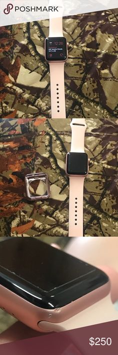 Apple Watch 42mm series 2 Paid $402.03 for the watch and accessories from best buy. the watch is only a month and a half old and has one little spot on it where dropped it before putting a case on it. the watch comes with 5 outer cases, a medium and large wristband, the charger, and a glass screen protector Accessories Watches