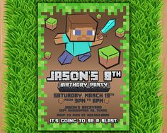 Minecraft Inspired Medieval Beverage Napkins 16 Pack Party