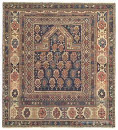 Antique Marasali Shirvan Caucasian Rug