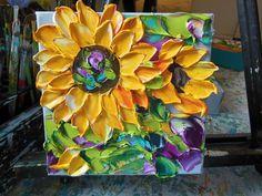 Oil  Painting  Sunflower Textured  Impasto by IronsideImpastos, $45.00