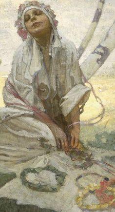 ❤ - Alphonse Mucha   Bohemian Sun Dreamer.