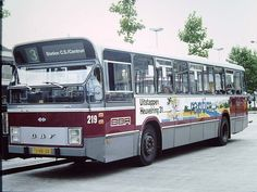 Old bus in Rotterdam/Den Haag  from RET/HTM (used in 70's and 80's)